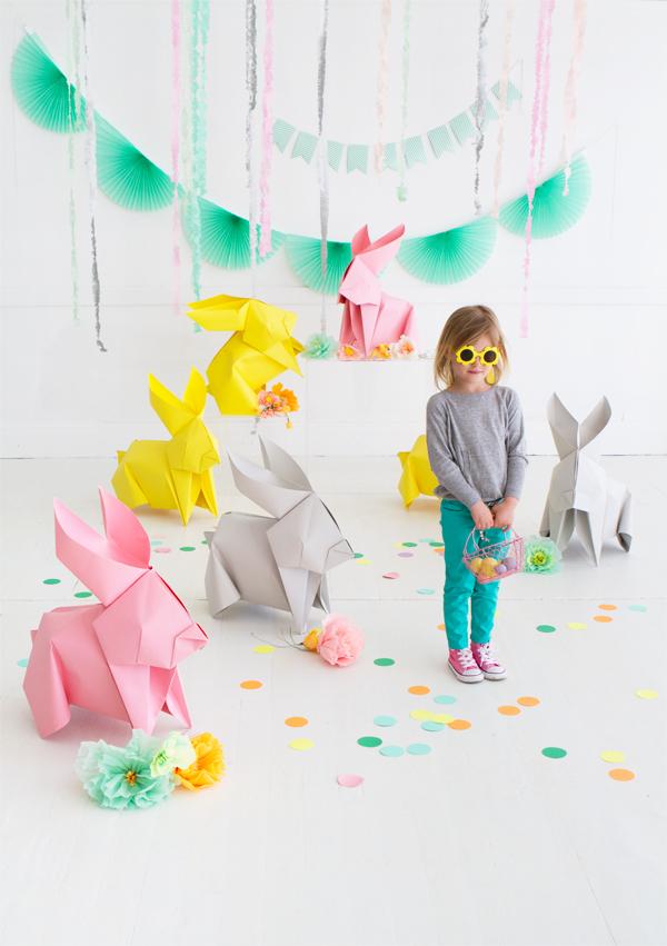 DIY Giant Origami Bunnies