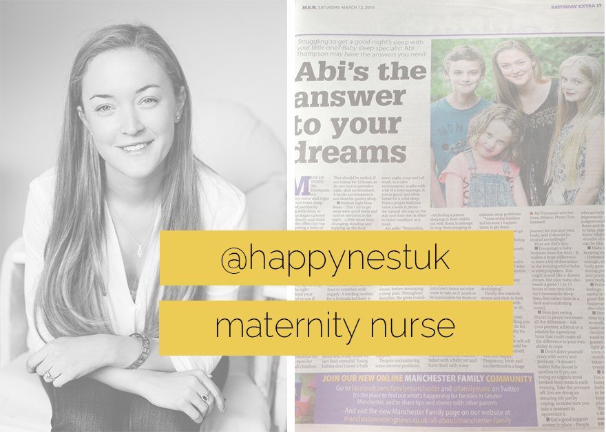 Abi Thompson, Baby Sound Asleep, Happy Nest Maternity Nurse, night nanny, newborn care, chester, cheshire, manchester