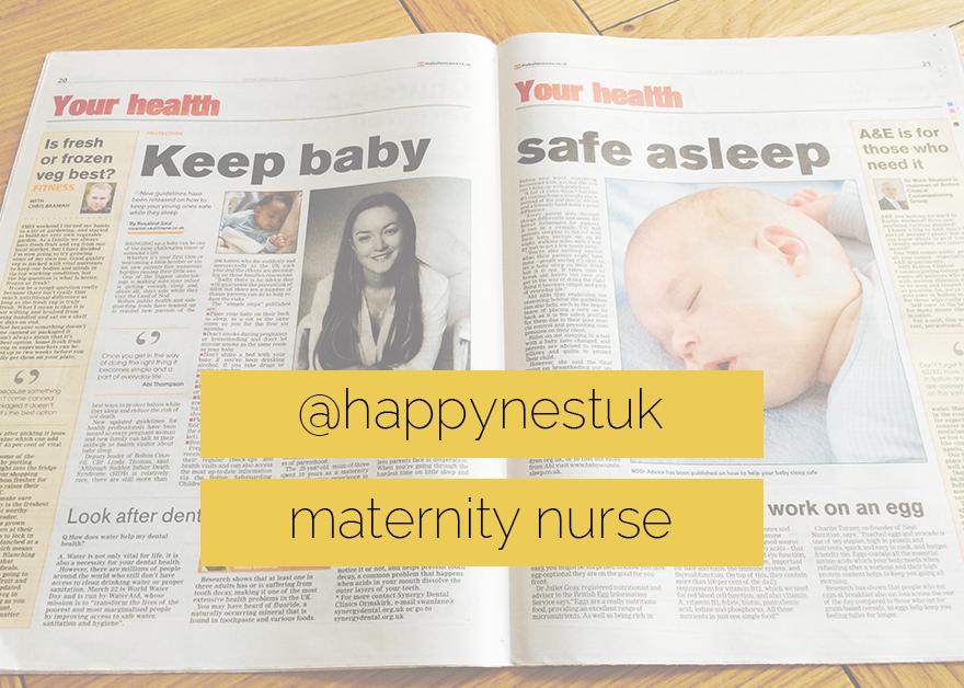 Happy Nest Maternity Nurse, night nanny, maternity nurse, newborn care, Baby Sound Asleep, Abi Thompson