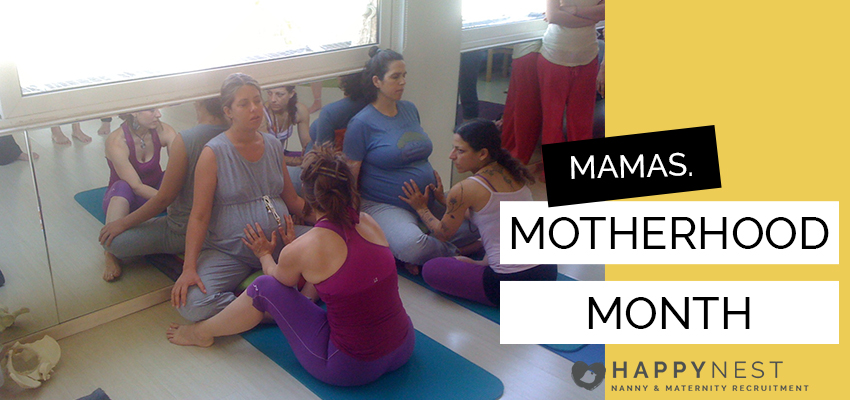 Birth Doula Rozy Glow Performing Birthlight Yoga in Athens